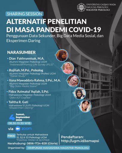 Sharing Session Alternatif Penelitian Di Masa Pandemi Covid 19 Psikologi Ugm Ac Id